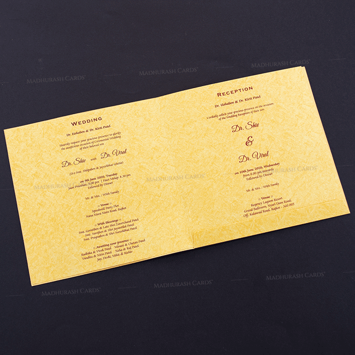 Hindu Wedding Cards - HWC-18212 - 4