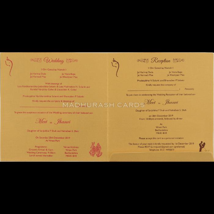 Hindu Wedding Cards - HWC-18254 - 4