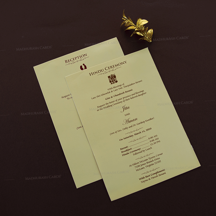Shop Creative Cheap Hindu Wedding Cards Online Hwc 18204