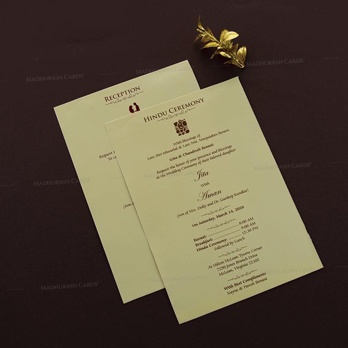 Designer Wedding Cards - DWC-18204 - 4