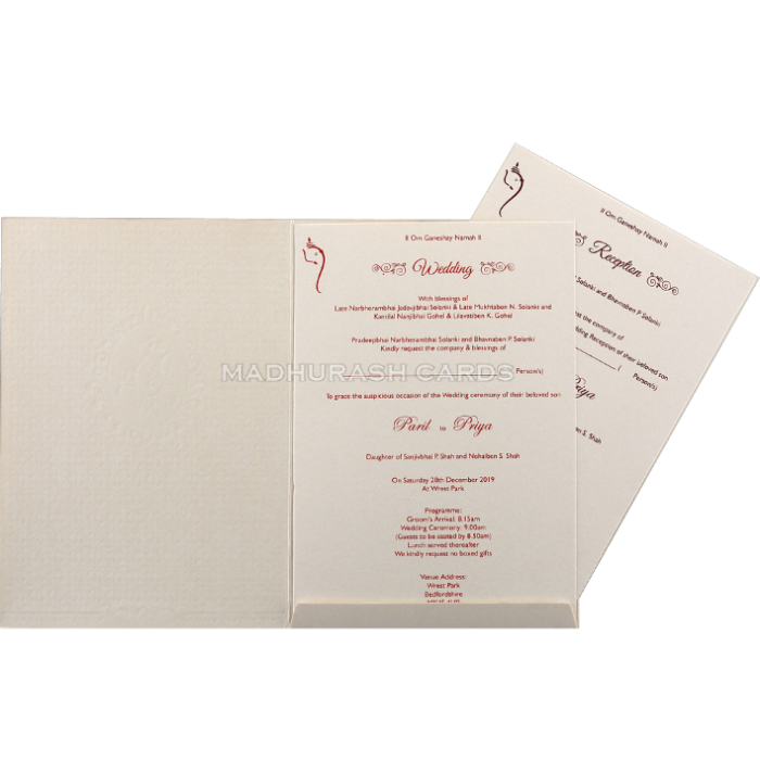 Hindu Wedding Cards - HWC-18233 - 4