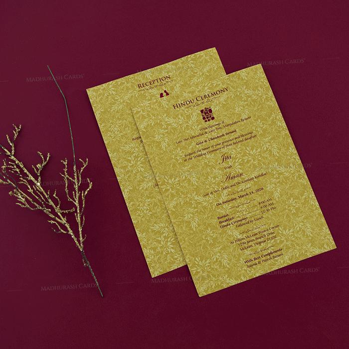Hindu Wedding Cards - HWC-18255 - 4