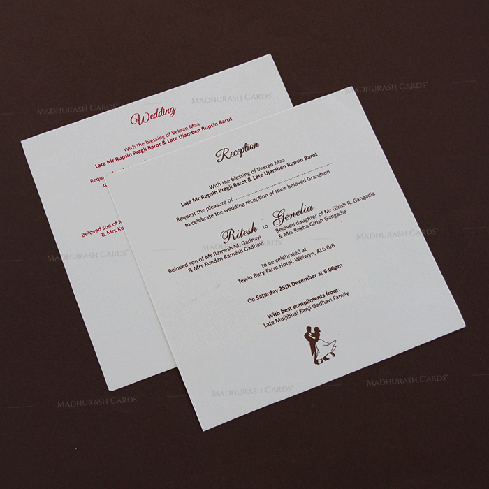 Hindu Wedding Cards - HWC-18294 - 4