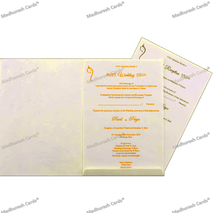 Hindu Wedding Cards - HWC-18303 - 4