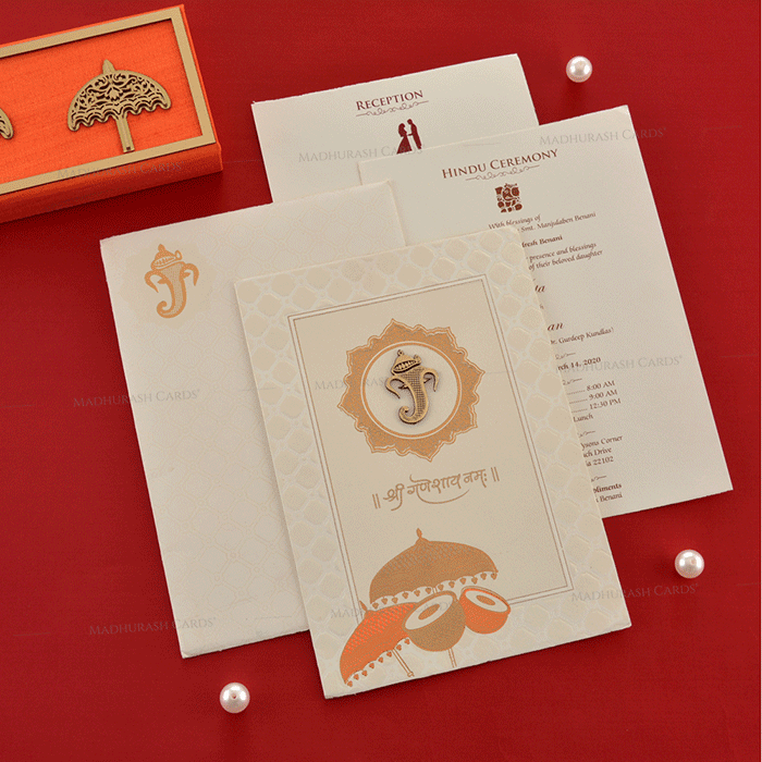 Hindu Wedding Cards - HWC-18238 - 4