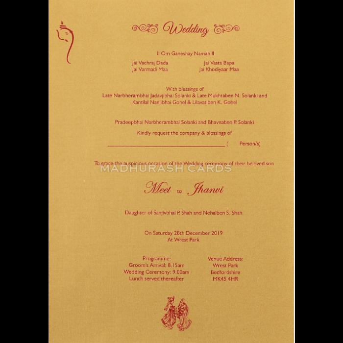 Hindu Wedding Cards - HWC-18161 - 5