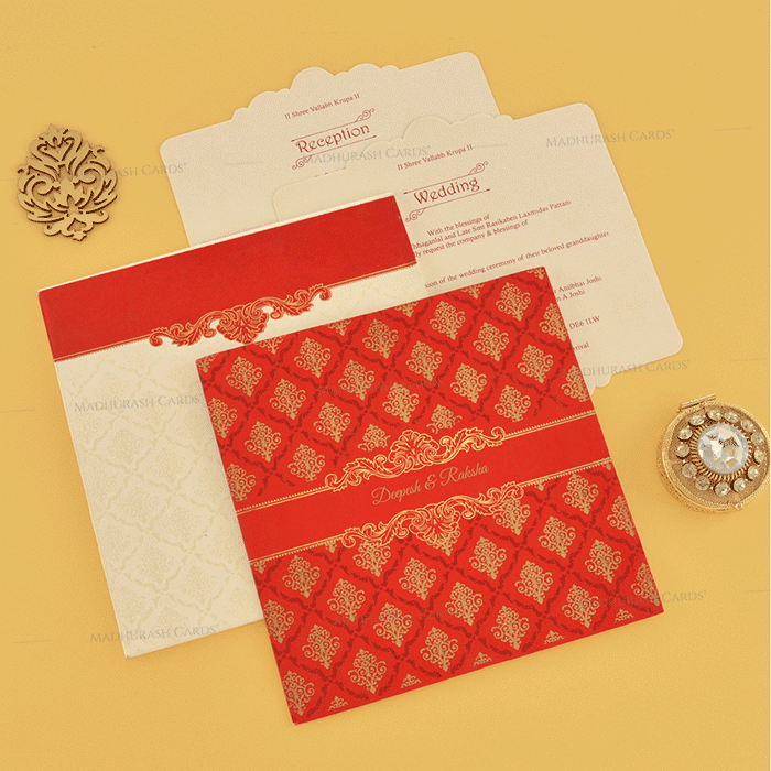 Designer Wedding Cards - DWC-18111 - 4