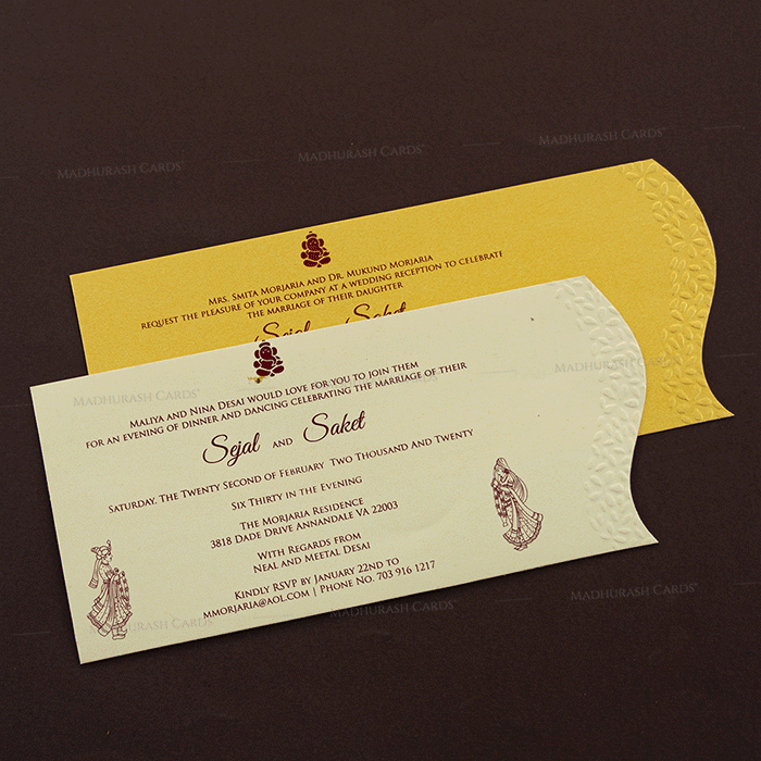 Hindu Wedding Cards - HWC-4091 - 4