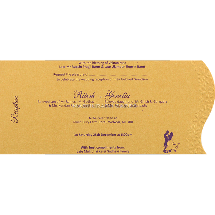 Hindu Wedding Cards - HWC-4091 - 5