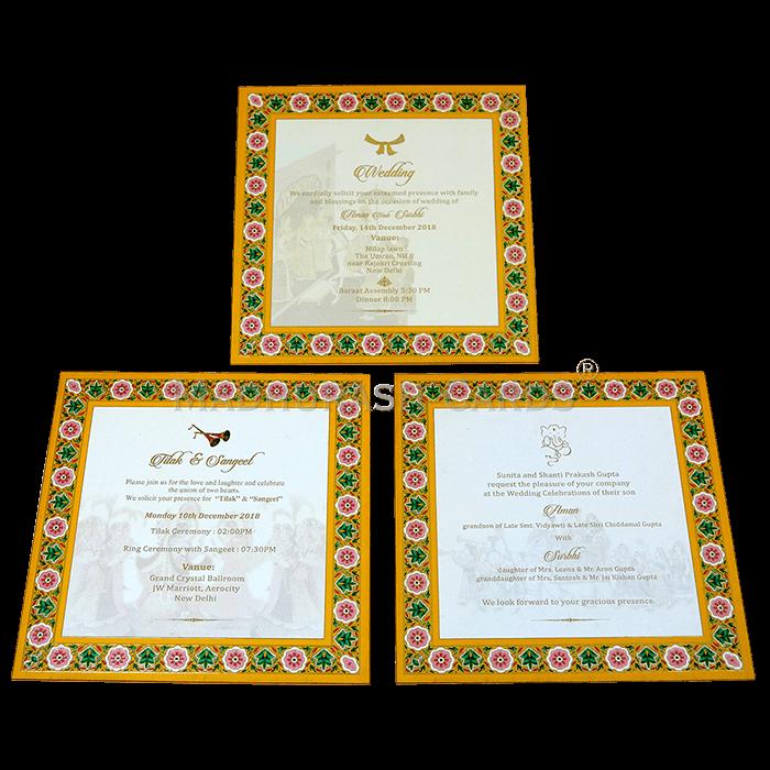 Luxury Wedding Cards - LWC-18 - 5
