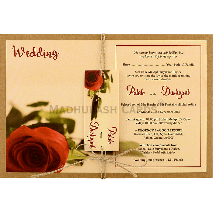 test Kraft Wedding Invitations - KWC-8950