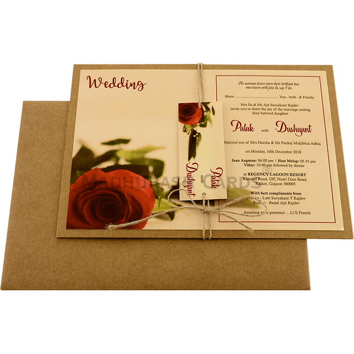 Kraft Wedding Invitations - KWC-8950 - 3
