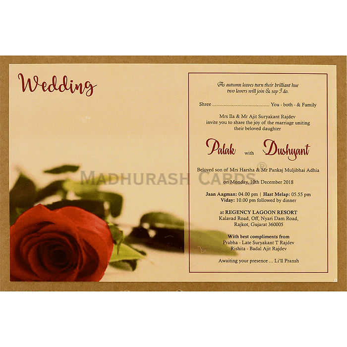 Kraft Wedding Invitations - KWC-8950 - 5