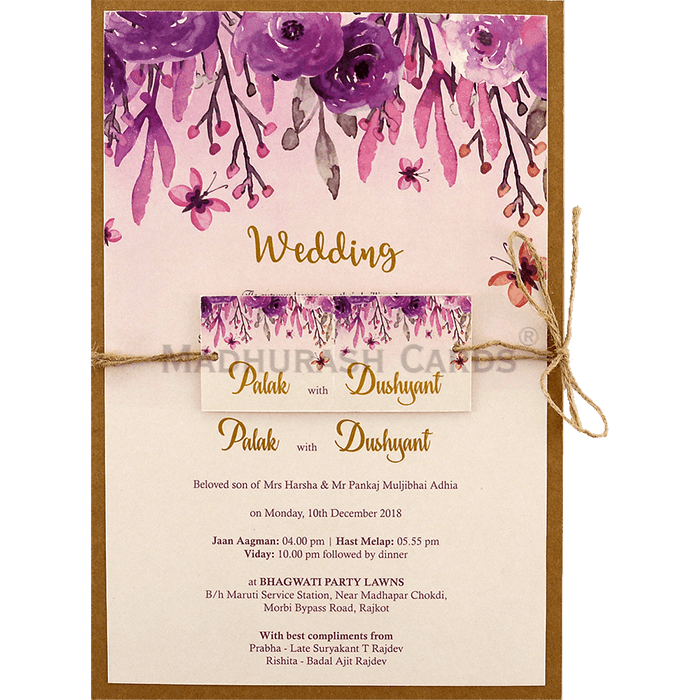 Custom Wedding Cards - CZC-9475 - 2