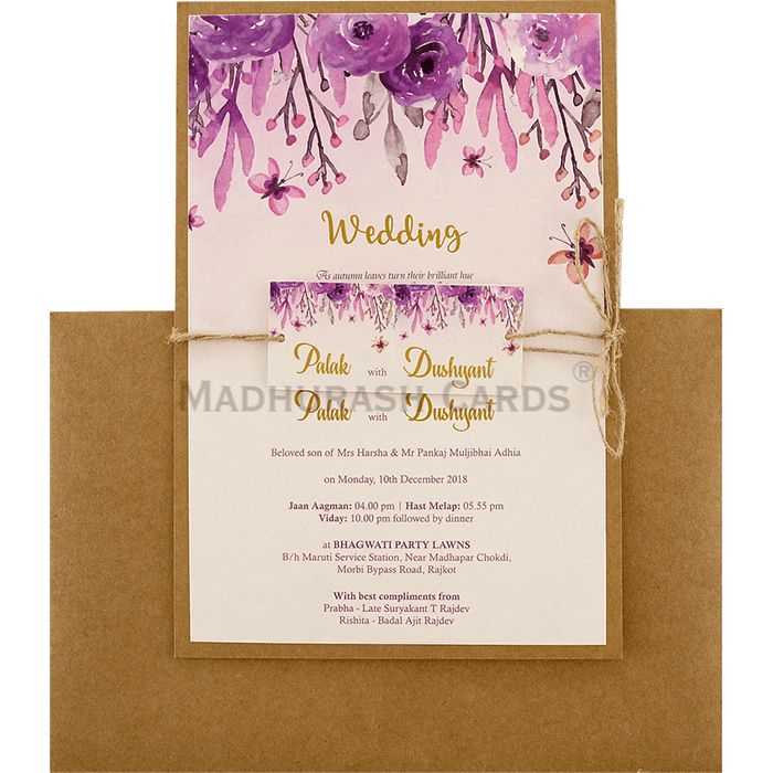 Custom Wedding Cards - CZC-9475 - 3