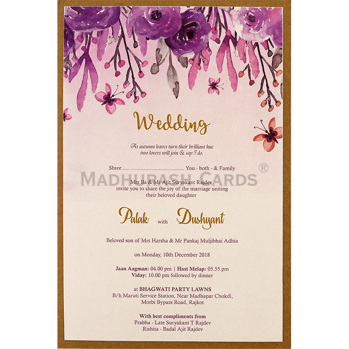 Custom Wedding Cards - CZC-9475 - 4
