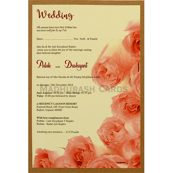 Custom Wedding Cards - CZC-8949 - 5