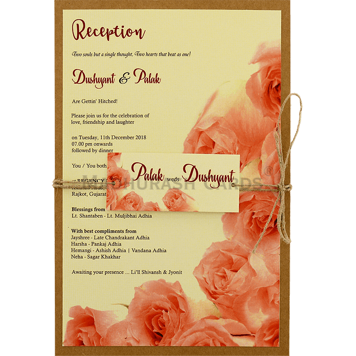 test Kraft Wedding Invitations - KWC-8949