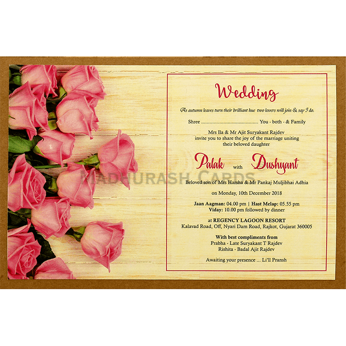 Custom Wedding Cards - CZC-8948 - 5