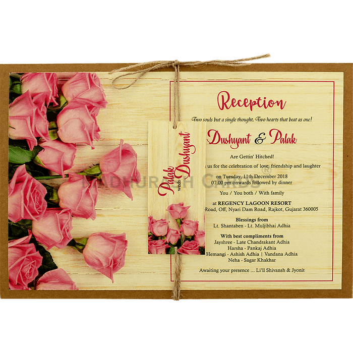 test Kraft Wedding Invitations - KWC-8948