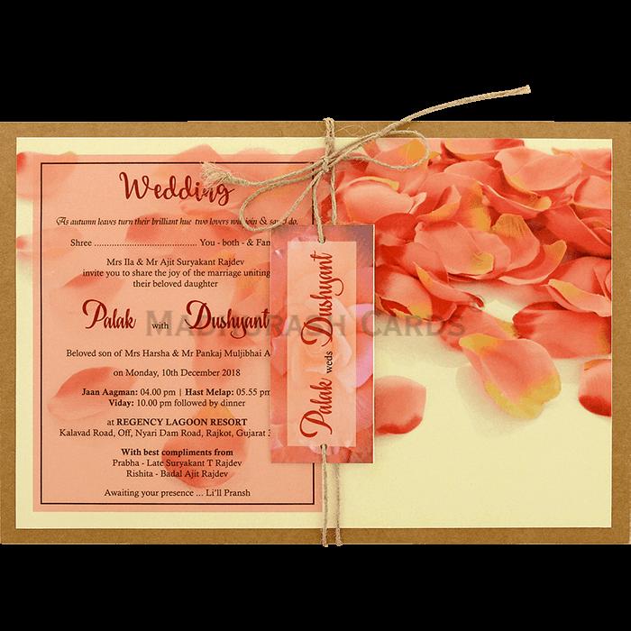 test Kraft Wedding Invitations - KWC-8947