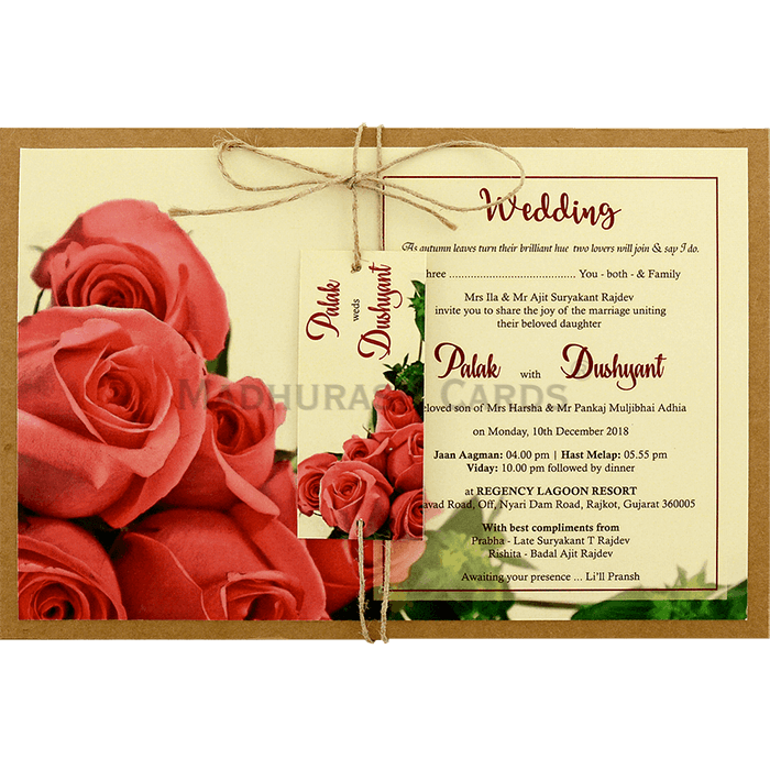 test Custom Wedding Cards - CZC-8945