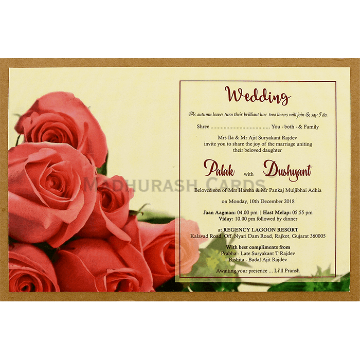 Custom Wedding Cards - CZC-8945 - 4
