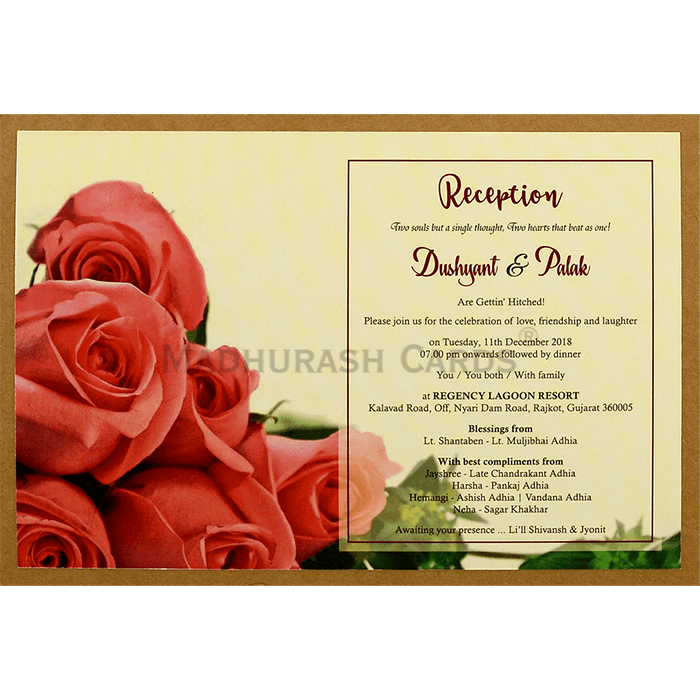 Custom Wedding Cards - CZC-8945 - 5