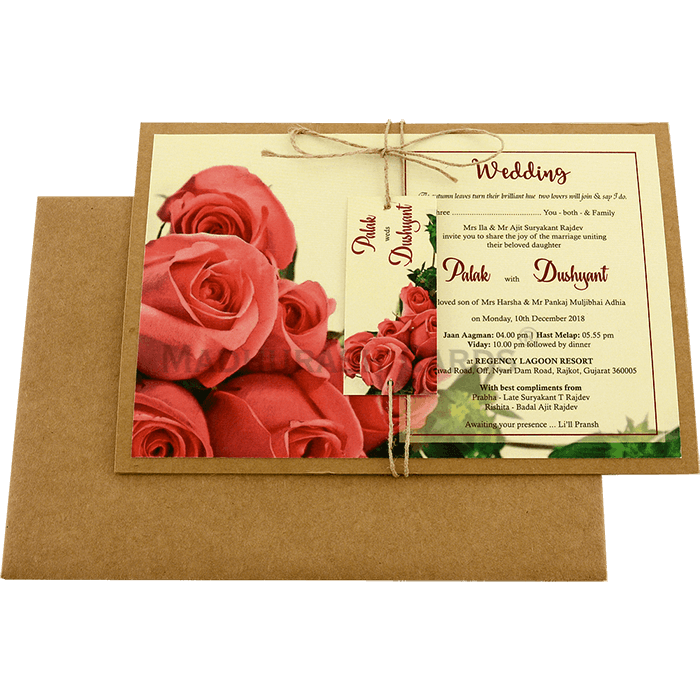 Kraft Wedding Invitations - KWC-8945 - 3