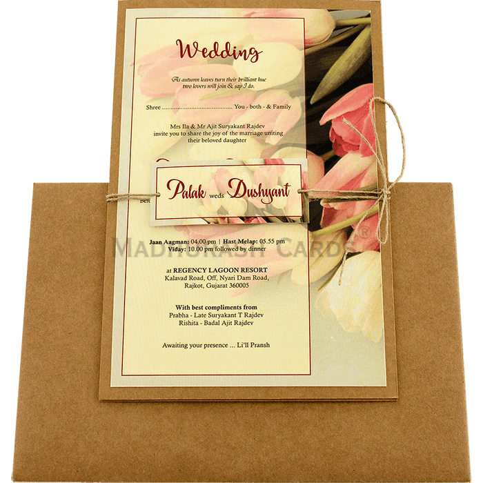 Custom Wedding Cards - CZC-8942 - 3