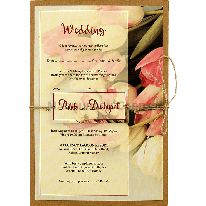 Kraft Wedding Invitations - KWC-8942 - 2