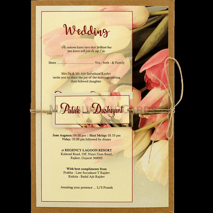 test Kraft Wedding Invitations - KWC-8942