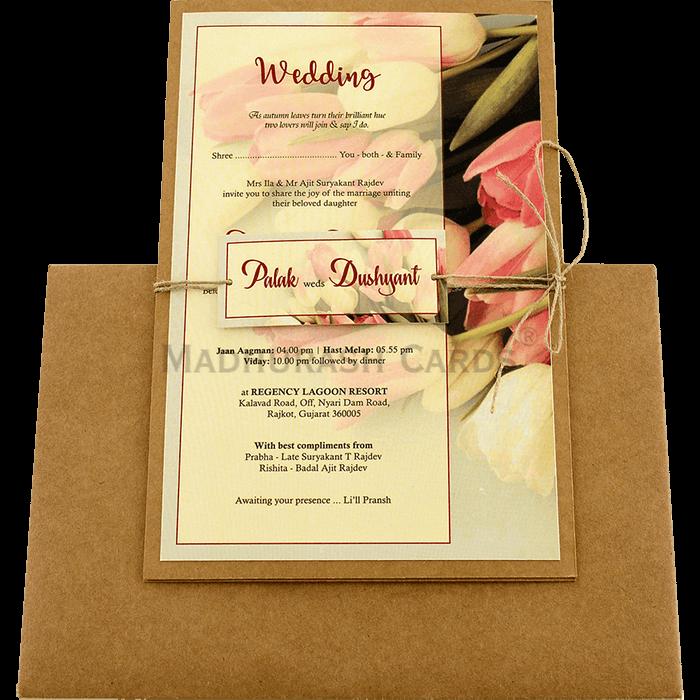 Kraft Wedding Invitations - KWC-8942 - 3