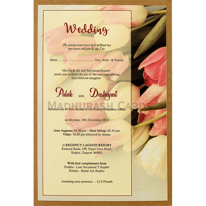 Kraft Wedding Invitations - KWC-8942 - 4