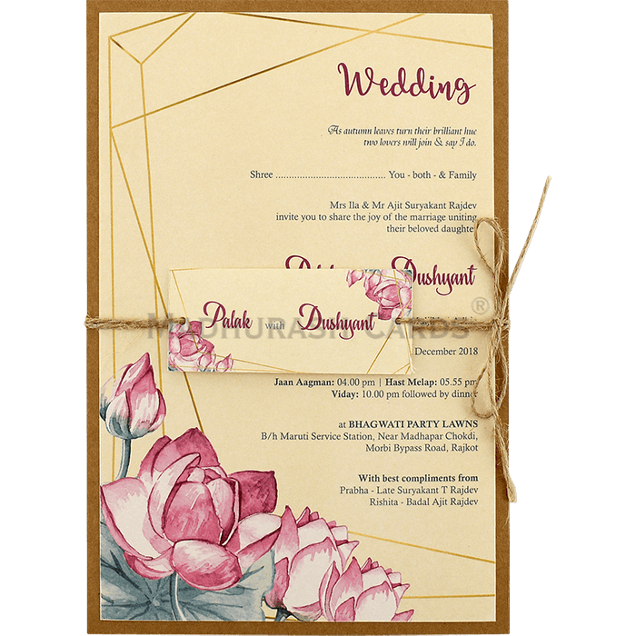 test Custom Wedding Cards - CZC-9477