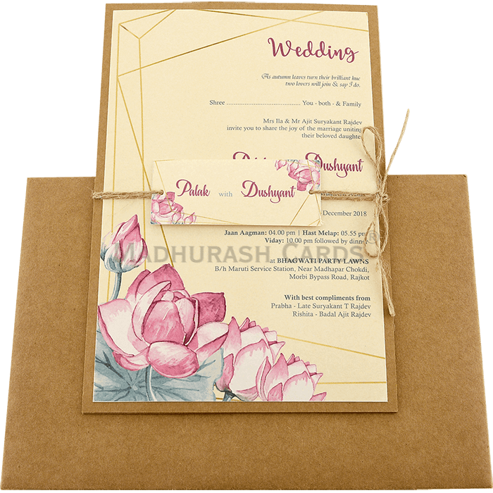Custom Wedding Cards - CZC-9477 - 3