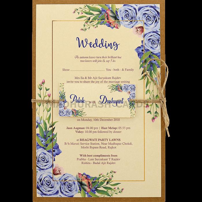 test Kraft Wedding Invitations - KWC-9476