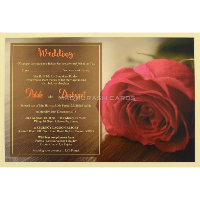 Custom Wedding Cards - CZC-8953 - 4
