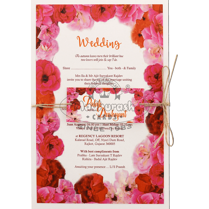 test Custom Wedding Cards - CZC-8958