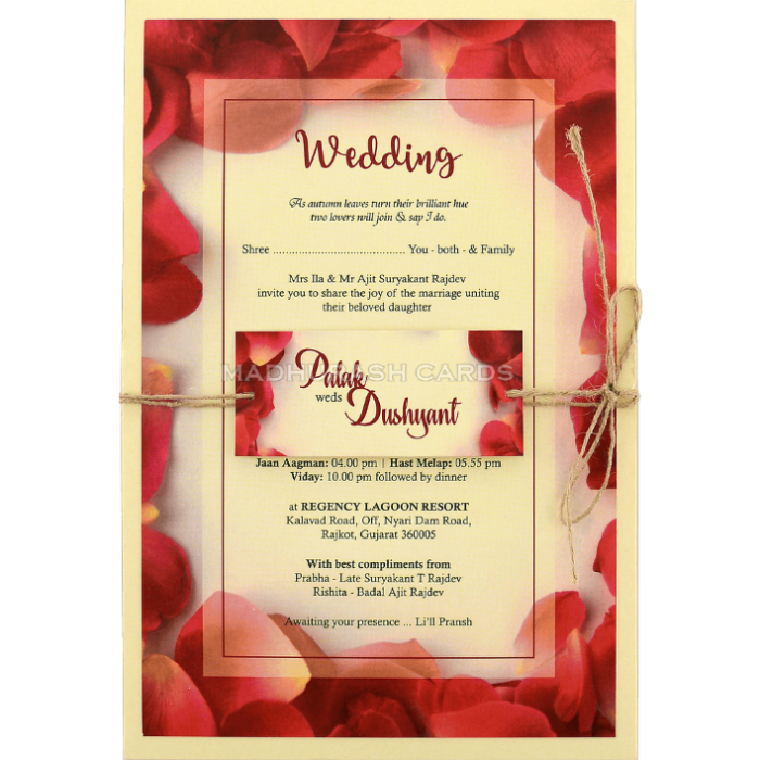 test Custom Wedding Cards - CZC-8955