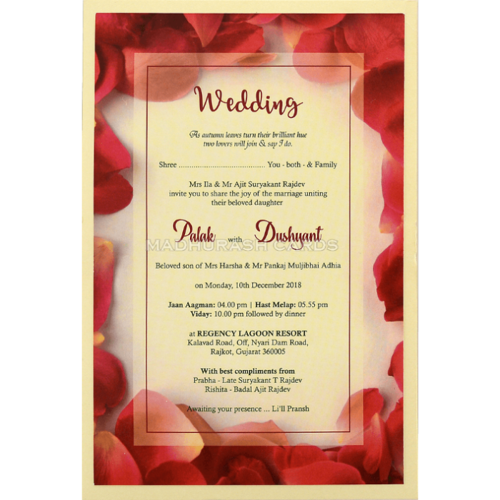 Custom Wedding Cards - CZC-8955 - 4