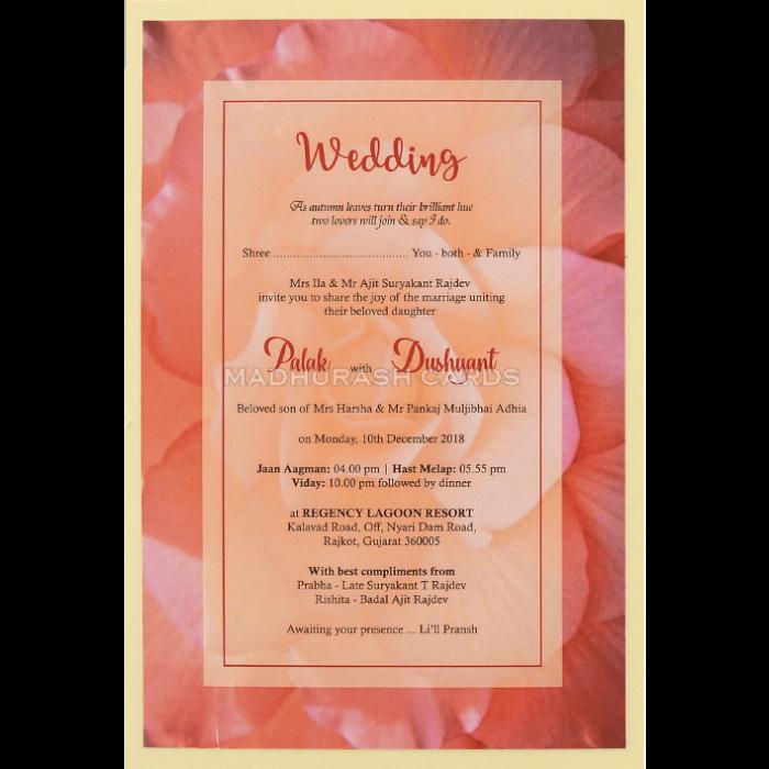Custom Wedding Cards - CZC-8957 - 4