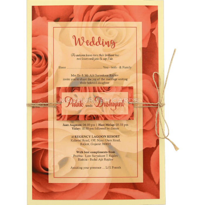 Custom Wedding Cards - CZC-8960 - 2