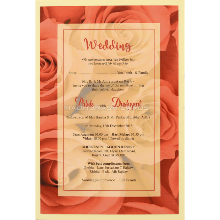 Custom Wedding Cards - CZC-8960 - 4