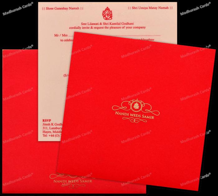 Custom Wedding Cards - CZC-8891 - 5