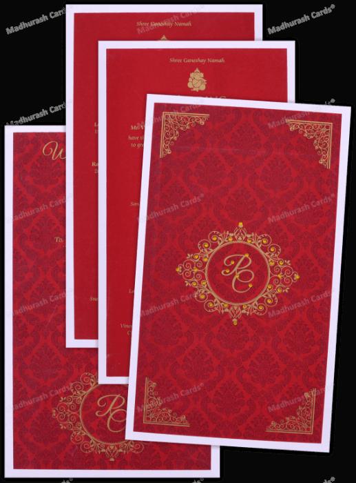 Custom Wedding Cards - CZC-8892 - 5