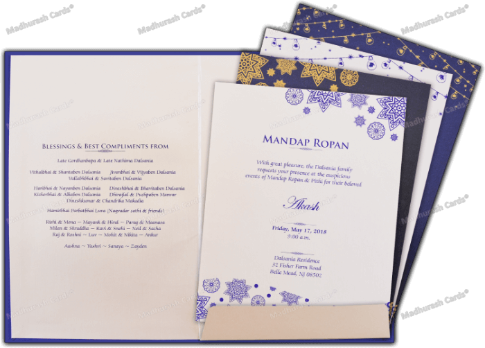 Custom Wedding Cards - CZC-9120 - 4
