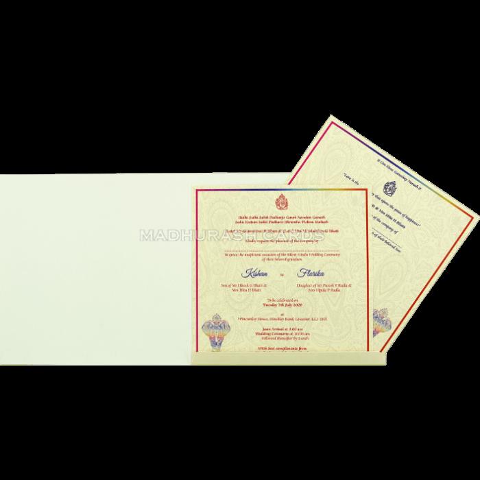 Custom Wedding Cards - CZC-8905 - 4