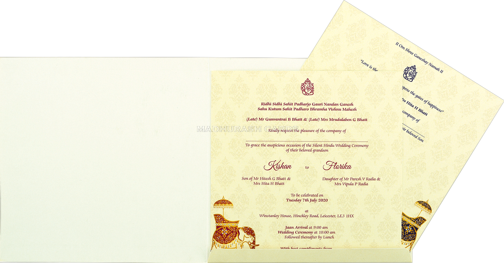 Custom Wedding Cards - CZC-8906 - 4
