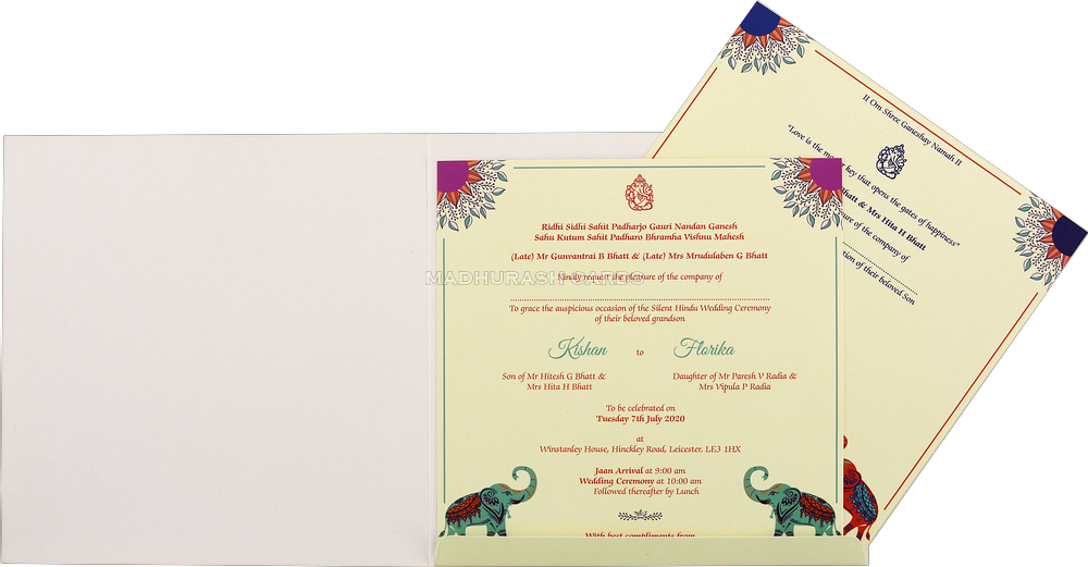 Custom Wedding Cards - CZC-8908 - 4